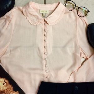 A gorgeous ModCloth peter pan collared top